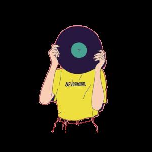 Cristina Alesci Web Designer -ragazza-disco-illustrazione